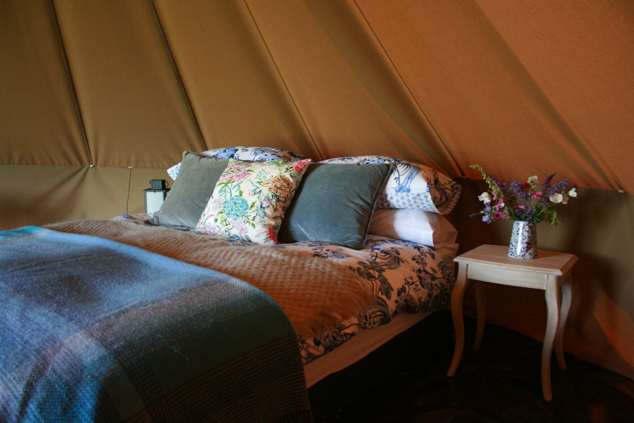 Bell Tent Glamping Warwickshire - Hilltop Hideaways Interior