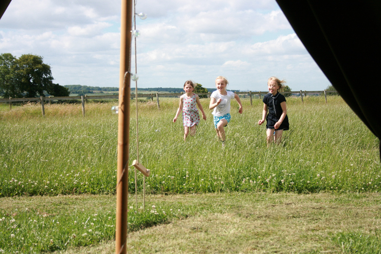 Bell Tent Glamping Warwickshire - Hilltop Hideaways View