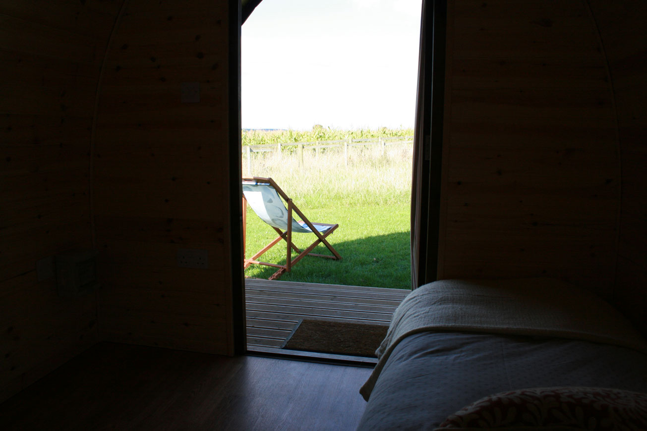 Glamping Cabins Warwickshire - Hilltop Hideaways View