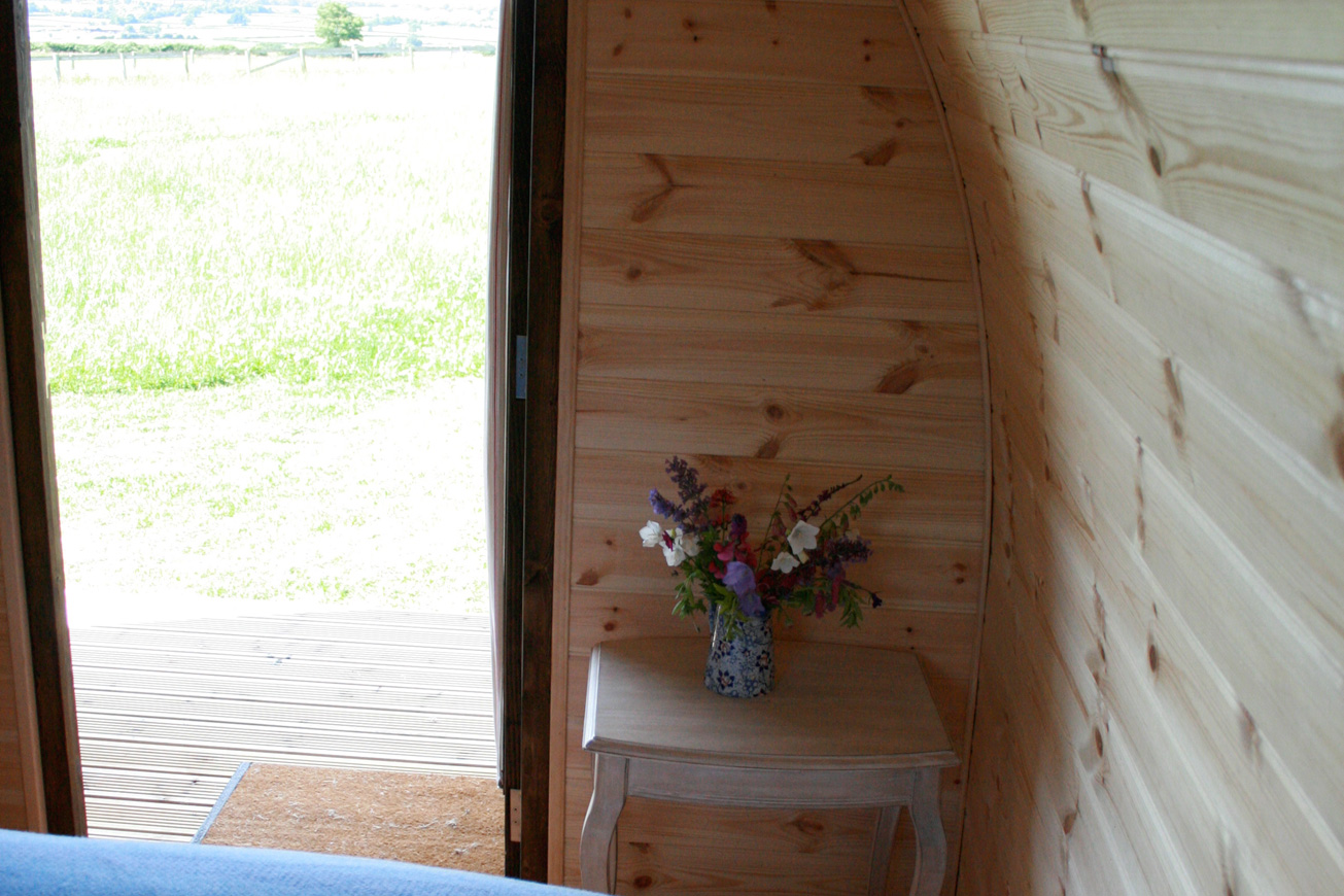 Glamping Pods Warwickshire - Hilltop Hideaways View